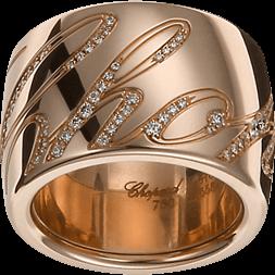 Ring Chopard Chopardissimo aus 750 Roségold mit 89 Brillanten (0,35 Karat)