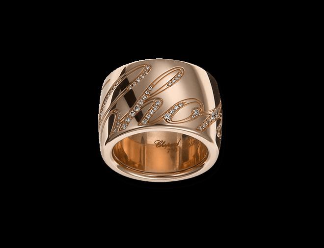 Ring Chopard Chopardissimo aus 750 Roségold mit mehreren Brillanten (0,35 Karat)