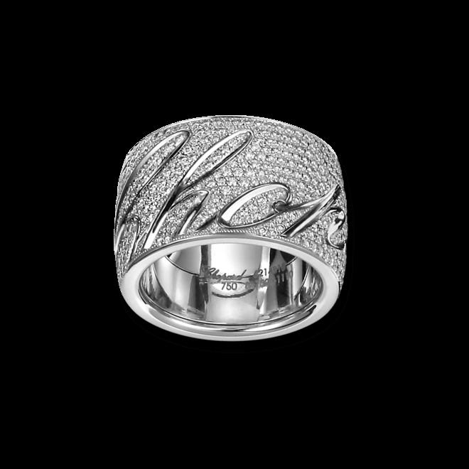 Ring Chopard Chopardissimo aus 750 Weißgold mit 648 Brillanten (2,17 Karat) Größe 53/54