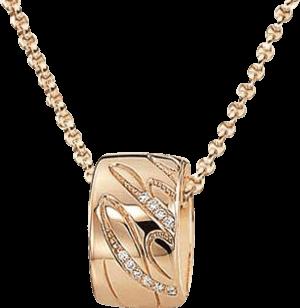 Halskette mit Anhänger Chopard Chopardissimo rund aus 750 Roségold mit 24 Brillanten (0,05 Karat)