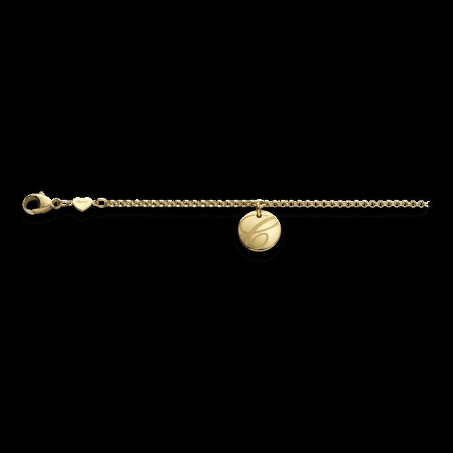 Armband mit Anhänger Chopard Chopardissimo Scheibe aus 750 Gelbgold