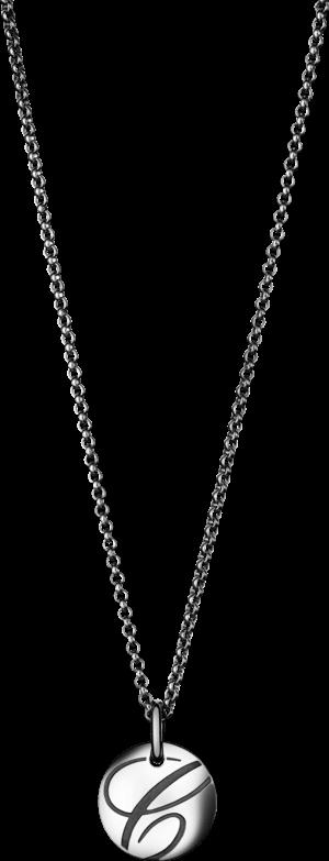 Halskette mit Anhänger Chopard Chopardissimo Scheibe aus 750 Weißgold