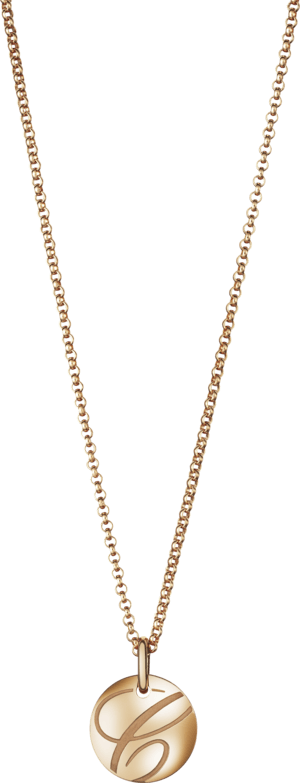 Halskette mit Anhänger Chopard Chopardissimo Scheibe aus 750 Roségold