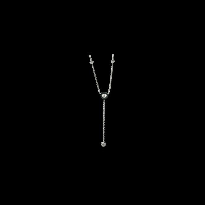 Halskette mit Anhänger Chopard Happy Diamonds aus 750 Weißgold mit 10 Diamanten (2,3 Karat)