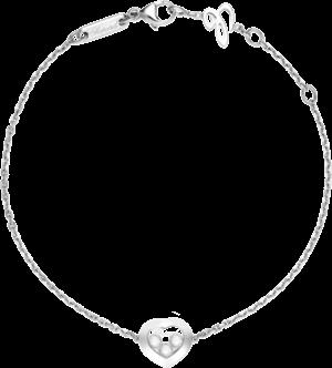 Armband Chopard Happy Curves aus 750 Weißgold mit 3 Brillanten (0,08 Karat)