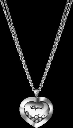 Halskette mit Anhänger Chopard Happy Curves aus 750 Weißgold mit 7 Brillanten (0,3 Karat)