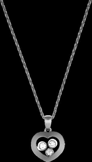 Halskette mit Anhänger Chopard Happy Curves aus 750 Weißgold mit 3 Brillanten (0,13 Karat)