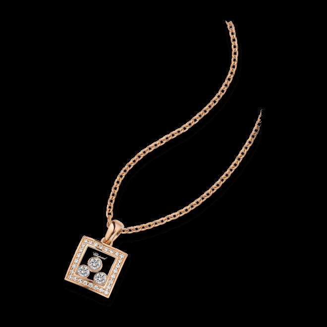 Halskette mit Anhänger Chopard Happy Curves aus 750 Roségold mit 31 Brillanten (0,28 Karat)