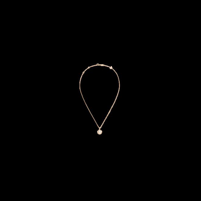 Halskette mit Anhänger Chopard Happy Curves aus 750 Roségold mit 26 Brillanten (0,13 Karat)