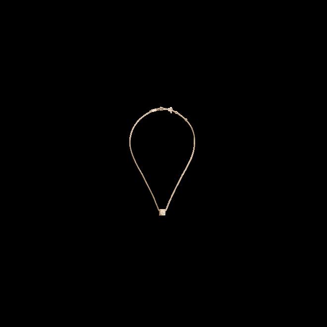 Halskette mit Anhänger Chopard Happy Curves aus 750 Roségold mit 3 Brillanten (0,08 Karat)