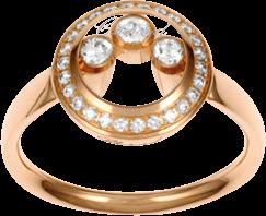 Ring Chopard Happy Curves mit Diamant (0,27 Karat)