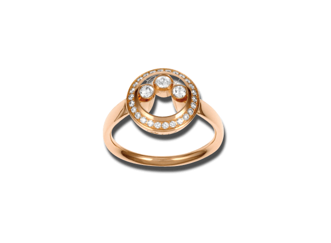 Ring Chopard Happy Curves mit Diamant (0,27 Karat)