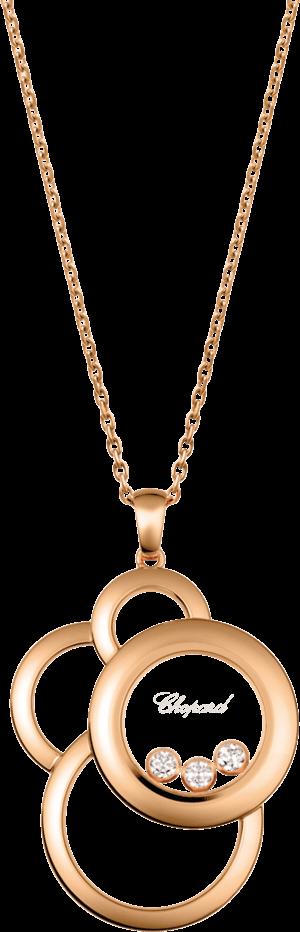 Halskette mit Anhänger Chopard Happy Dreams aus 750 Roségold mit 3 Diamanten (0,28 Karat)