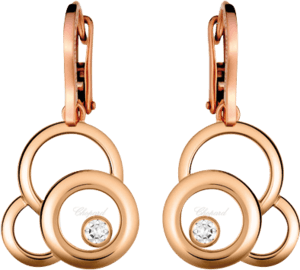 Ohrring Chopard Happy Dreams aus 750 Roségold mit 2 Diamanten (2 x 0,095 Karat)