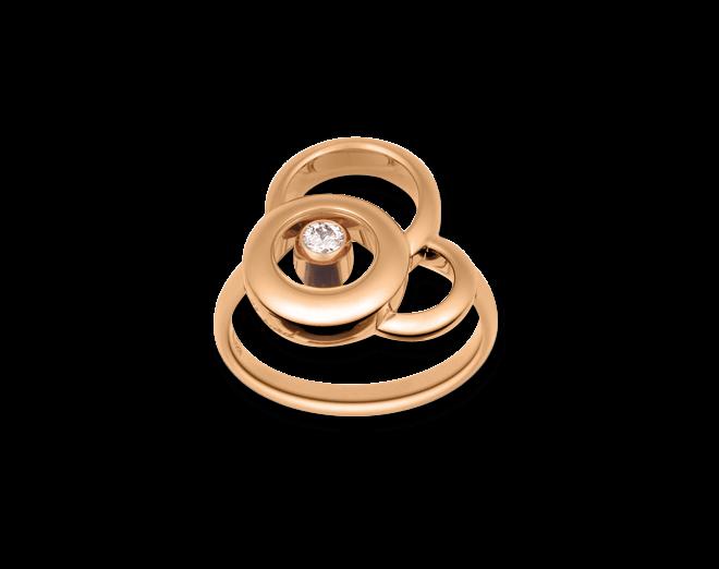Ring Chopard Happy Dreams aus 750 Roségold mit 1 Brillant (0,09 Karat)
