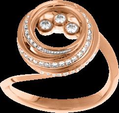 Ring Chopard Happy Emotions aus 750 Roségold mit 71 Brillanten (0,42 Karat)