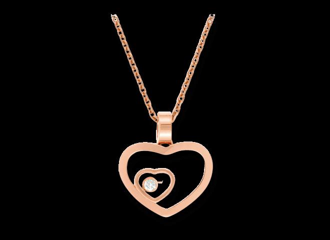 Halskette mit Anhänger Chopard Happy Hearts aus 750 Roségold mit 1 Brillant (0,05 Karat)
