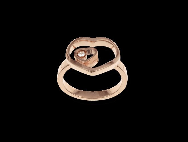 Ring Chopard Happy Hearts aus 750 Roségold mit 1 Brillant (0,05 Karat)