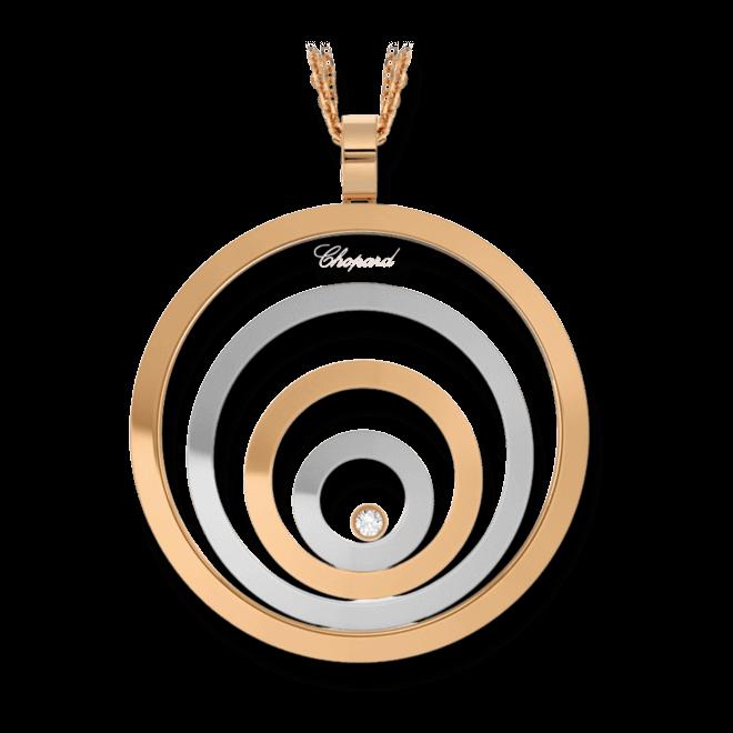 Halskette mit Anhänger Chopard Happy Spirit aus 750 Roségold und 750 Weißgold mit 1 Brillant (0,1 Karat)