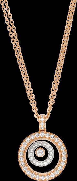 Halskette mit Anhänger Chopard Happy Spirit aus 750 Weißgold und Roségold mit mehreren Brillanten (0,72 Karat)