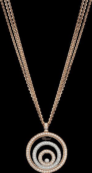 Halskette mit Anhänger Chopard Happy Spirit aus 750 Weißgold und Roségold mit mehreren Brillanten (1,97 Karat)
