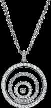 Halskette mit Anhänger Chopard Happy Spirit aus 750 Weißgold mit mehreren Brillanten (1,16 Karat)