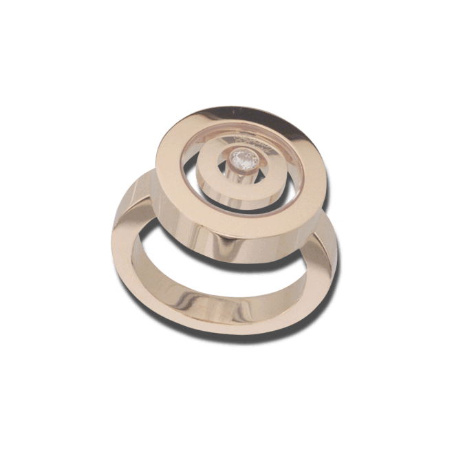 Ring Chopard Happy Spirit aus 750 Gelbgold mit 1 Brillant (0,1 Karat)