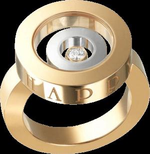 Ring Chopard Happy Spirit aus 750 Roségold und Weißgold mit 1 Brillant (0,1 Karat)