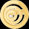 Ring Chopard Happy Spirit aus 750 Gelbgold mit 1 Brillant (0,1 Karat)