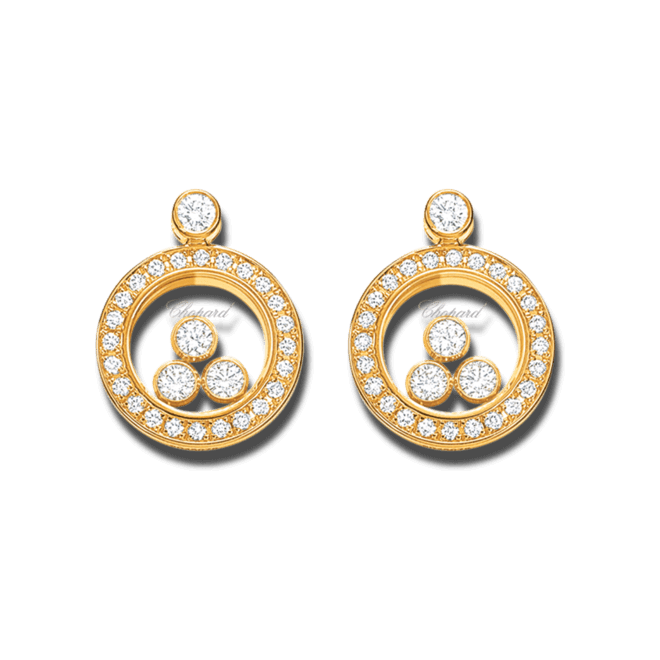 Ohrstecker Chopard Icons Animations aus 750 Gelbgold mit 48 Brillanten (2 x 0,14 Karat)