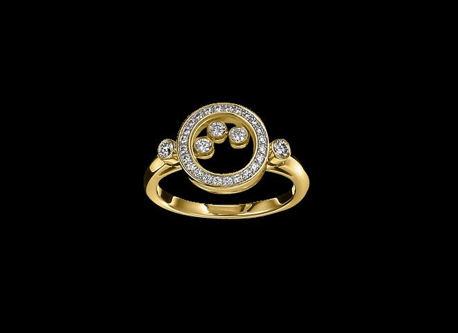 Ring Chopard Icons Animations aus 750 Gelbgold mit mehreren Brillanten (0,39 Karat)