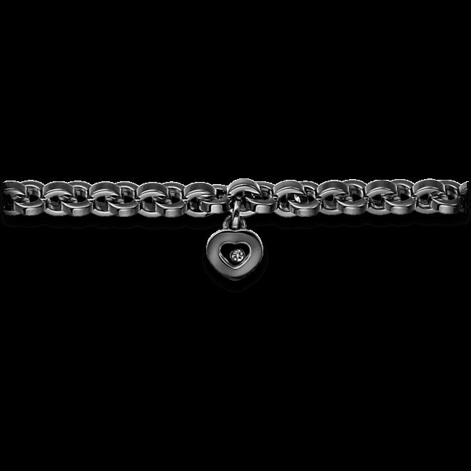 Armband mit Anhänger Chopard Icons Heart aus 750 Weißgold mit 1 Brillant (0,1 Karat)