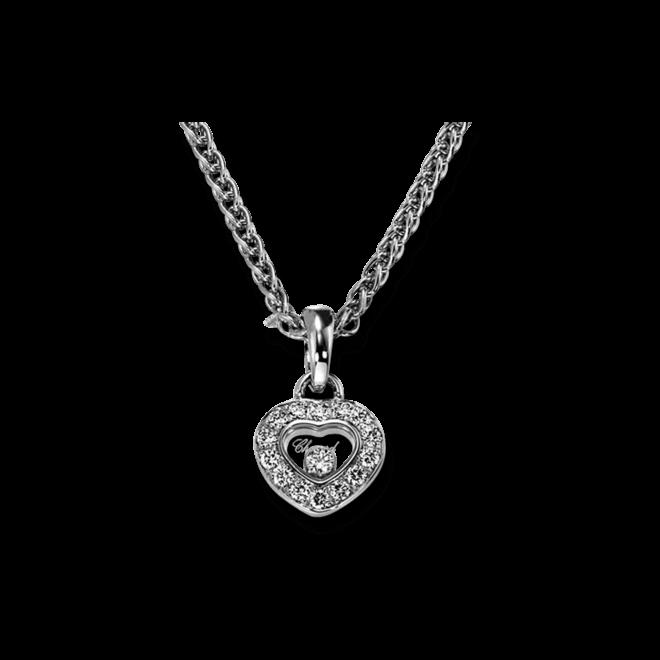 Halskette mit Anhänger Chopard Icons Heart aus 750 Weißgold mit mehreren Brillanten (0,29 Karat)