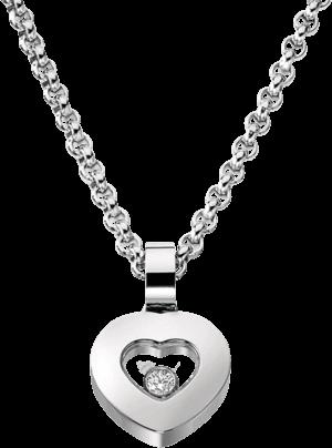 Halskette mit Anhänger Chopard Icons Heart aus 750 Weißgold mit 1 Brillant (0,05 Karat)