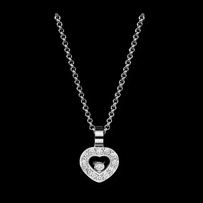Halskette mit Anhänger Chopard Icons Heart aus 750 Weißgold mit 13 Brillanten (0,25 Karat)