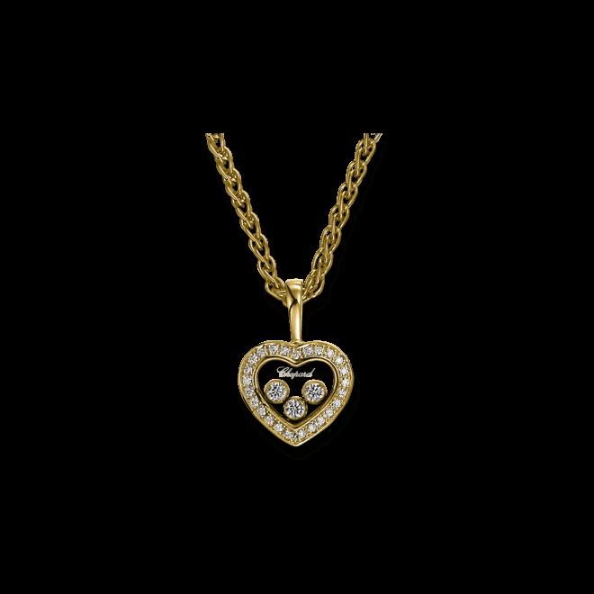 Halskette mit Anhänger Chopard Icons Heart aus 750 Gelbgold mit 25 Brillanten (0,1 Karat)