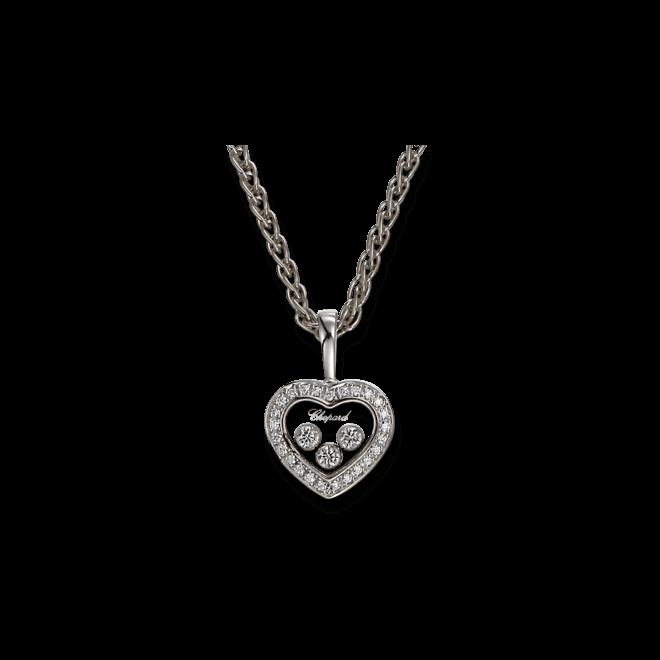 Halskette mit Anhänger Chopard Icons Heart aus 750 Weißgold mit mehreren Brillanten (0,27 Karat)