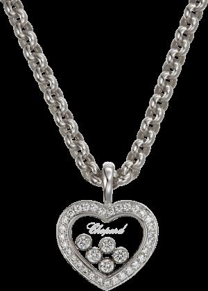 Halskette mit Anhänger Chopard Icons Heart aus 750 Weißgold mit 36 Brillanten (0,54 Karat)