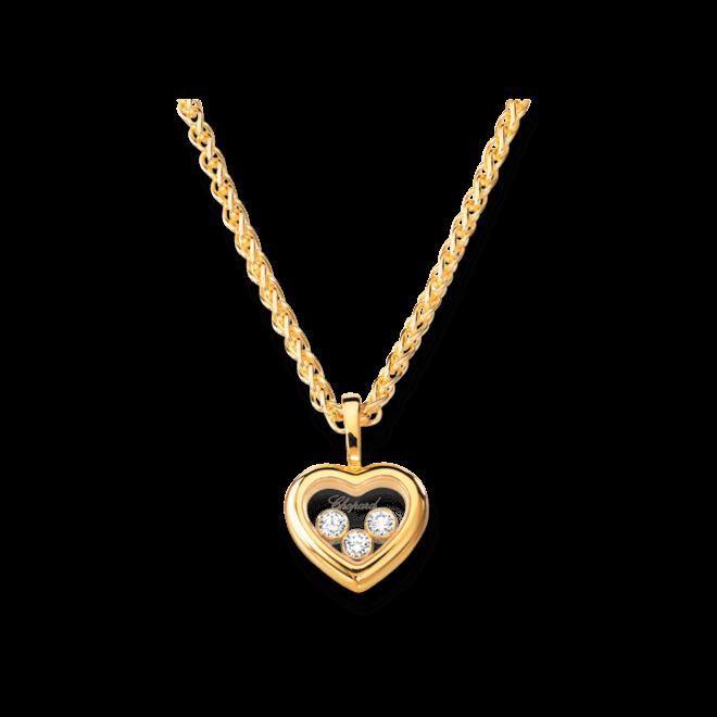 Halskette mit Anhänger Chopard Icons Heart aus 750 Gelbgold mit 3 Brillanten (0,17 Karat)
