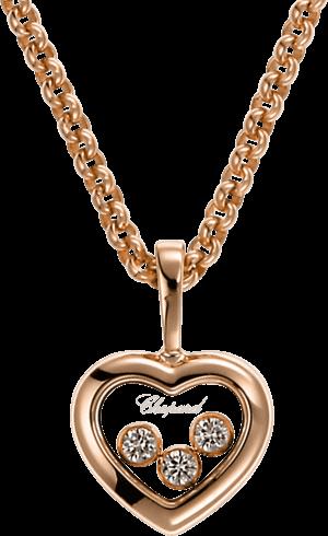 Halskette mit Anhänger Chopard Icons Heart aus 750 Roségold mit 3 Brillanten (0,17 Karat)