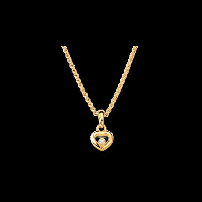 Halskette mit Anhänger Chopard Icons Heart aus 750 Gelbgold mit 1 Brillant (0,05 Karat)