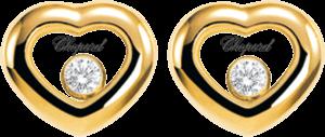 Ohrstecker Chopard Icons Heart aus 750 Gelbgold mit 2 Brillanten (2 x 0,055 Karat)