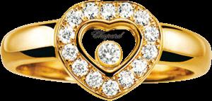Ring Chopard Icons Heart aus 750 Gelbgold mit 15 Brillanten (0,29 Karat)