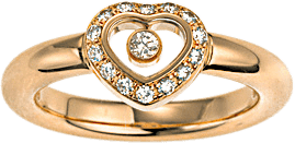 Ring Chopard Icons Heart aus 750 Gelbgold mit 15 Brillanten (0,19 Karat)