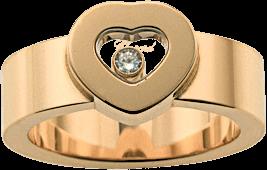 Ring Chopard Icons Heart aus 750 Gelbgold mit 1 Brillant (0,05 Karat)