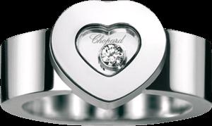 Ring Chopard Icons Heart aus 750 Weißgold mit 1 Brillant (0,05 Karat)