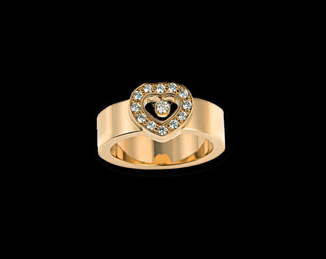 Ring Chopard Icons Heart aus 750 Gelbgold mit mehreren Brillanten (0,29 Karat)