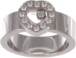 Ring Chopard Icons Heart aus 750 Weißgold mit mehreren Brillanten (0,29 Karat)