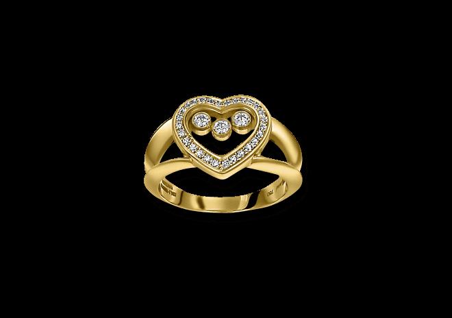 Ring Chopard Icons Heart aus 750 Gelbgold mit mehreren Brillanten (0,27 Karat)