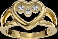 Ring Chopard Icons Heart aus 750 Gelbgold mit 3 Brillanten (0,17 Karat)